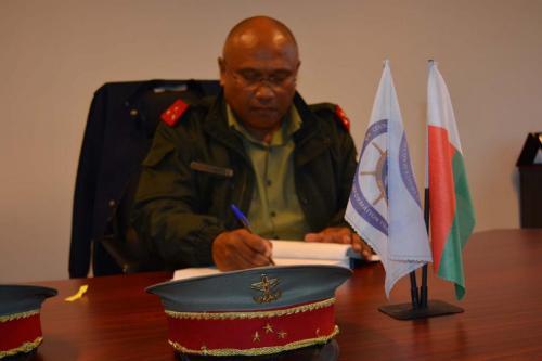 28 juin 2017  Visite de la délégation du Chef d'Etat Major Général de l'Armée Malagasy